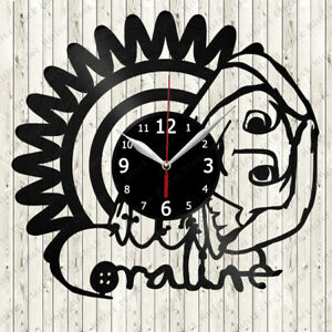 Coraline Vinyl Record Wall Clock Decor Handmade 3085 Ebay