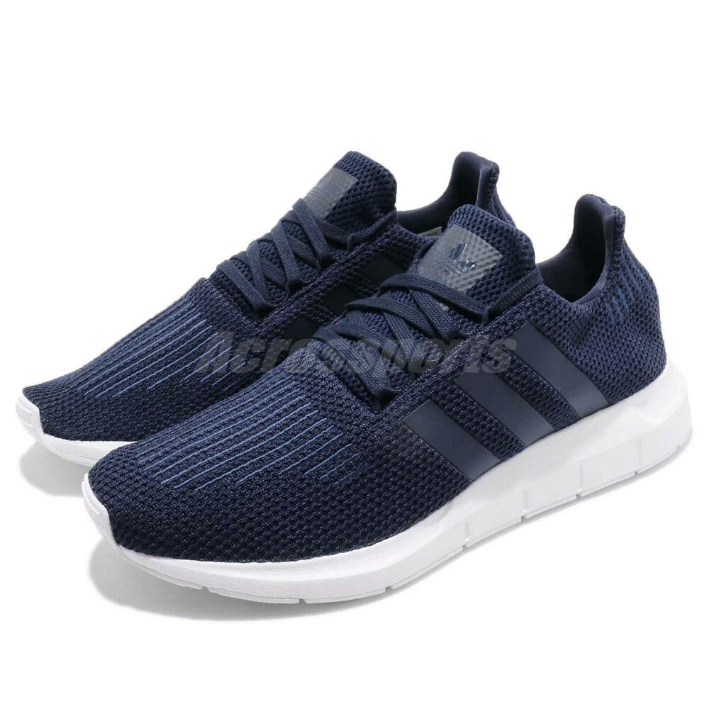 adidas Swift courir Collegiate Navy blanc homme fonctionnement Casual chaussures Sneakers B37727