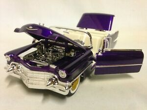 "Hollywood Rides 1956 Cadillac Eldorado 9/"" Diecast 1:24 Jada Toy Purple"
