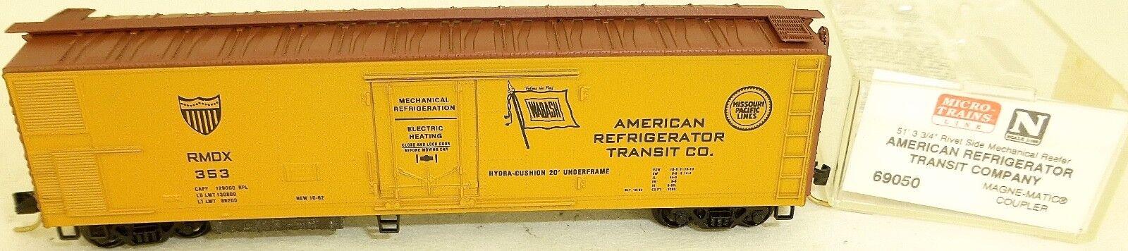 Micro-Trains Line 69050 Am Refrigerator Transit Comp Rivet Side n 1 160 X å