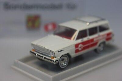 Franco Brekina Jeep Wagoneer Swissair Airlines/svizzera-modello Speciale 91985 - 1:87-mostra Il Titolo Originale
