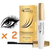 b1408d05c3f 2 x Long 4 Lashes Eyelash Enhancing Growth Black Mascara With Bioton 10ml