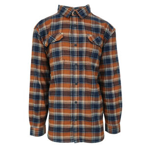Columbia-Men-039-s-Bright-Copper-Plaid-Flare-Gun-III-L-S-Flannel-Retail-55
