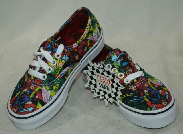 VANS X Marvel Comics Kids Boys Multi-color Canvas Shoes Sz 11.5