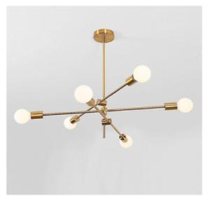 Br Gold Chandeliers 6 Lights Sputnik