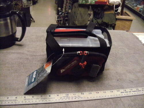 See Pictures New-Ozark Trail Utility Tray Fishing Bag-RED With 3 Trays NEW
