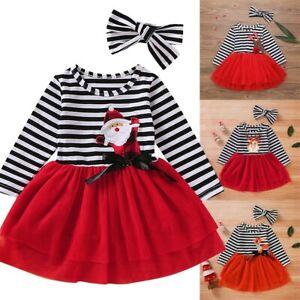Kids-Girl-Christmas-Long-Sleeve-Princess-Dress-Tulle-Dress-Xmas-Party-Outfit-Set