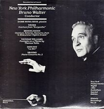 WALTER, Bruno, NY Phil. Brahms. Piano Concerto 2. Myra HESS +4. Radiothon LPs
