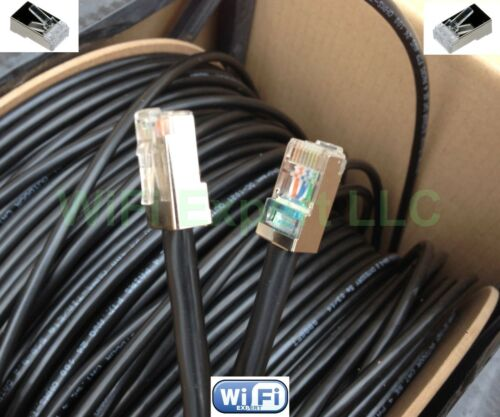 25-200/' Patch PoE CAT5e Outdoor Shielded Cable Shireen DC-1021  Metal Connectors