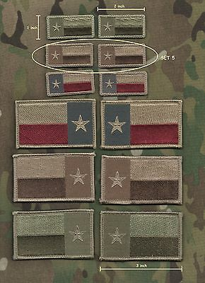 """Militaria Persevering Kandahar Whacker Jsoc Special Operations Task Group Ssi Set #5 Collectibles Tx Flag 1""""x 2"""""""