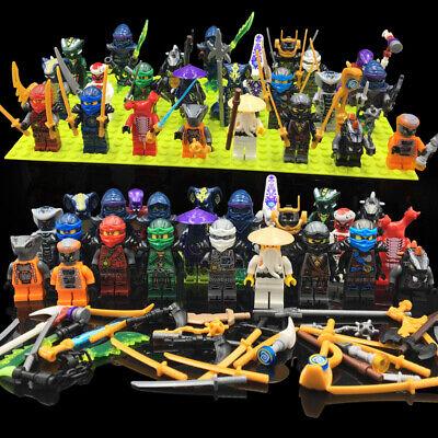 Set of 24 Stk Ninjago Mini Figures Kai Jay Sensei Wu Master Building Blocks Toys