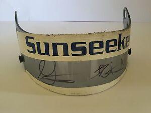 Leo-and-Greg-Mansell-Race-Worn-Signed-Visor-Formula-1-Very-Rare