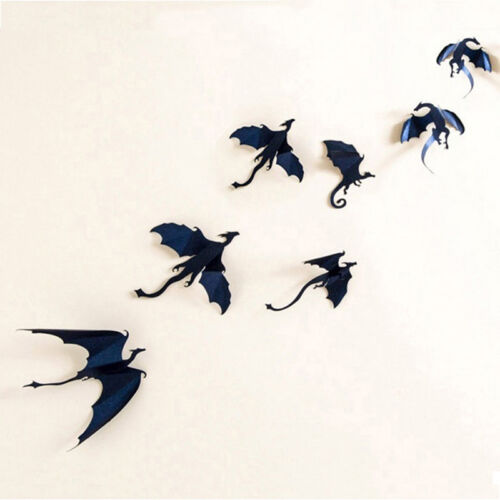 7pcs//Set Gothic Dragons Wall Sticker 3D Dragon Decor PVC wall stickers