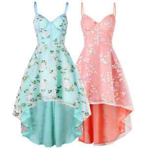 Women-039-s-Sling-Swing-Mini-Dress-Ladies-Evening-Party-Cocktail-Prom-Bridesmaids
