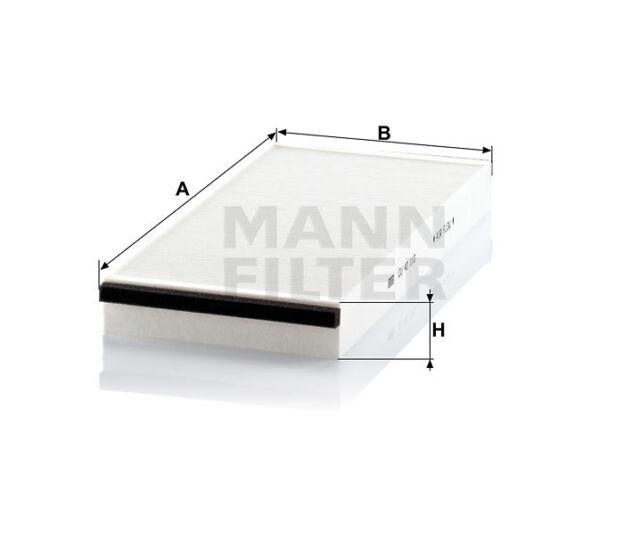 Filter, Innenraumfilter, Pollenfilter MANN FILTER CU 40 110