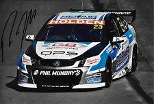 Russell Ingall SIGNED 12x8, Lucas Dumbrell Motorsport Holden, Clipsal 500  2014