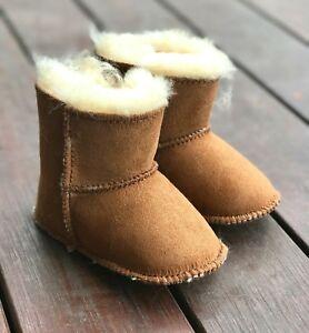 21e32f00059 Details about Baby Ugg Boots- Australian Merino Sheepskin/ Lambskin Shoes  Choose Size Chestnut