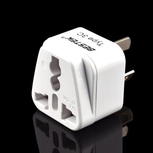 3-Pack BESTEK Australia China to US Grounded Travel Plug Adapter Power Converter
