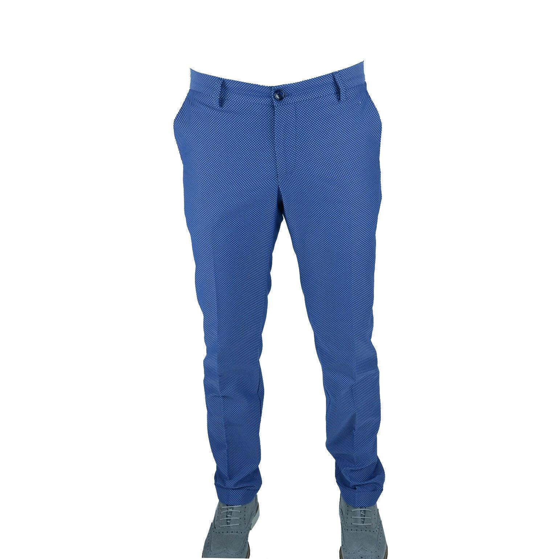 Pantalone men Slim Fit Comfort Tasca America Cotone Vincen Trade blue Regular