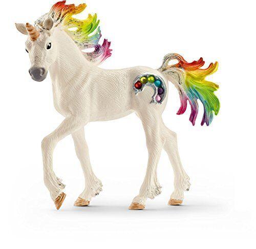 Schleich Spielzeugfigur Regenbogeneinhorn Fohlen Kinder Tierfigur Spielzeug NEU