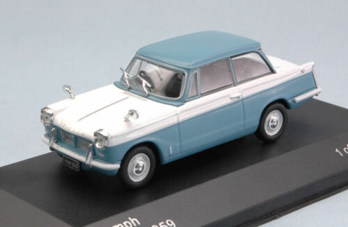 White 1:43 Model WB119 WHITEBOX Triumph Herald 1959 Light Blue