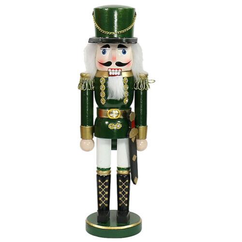 "Nussknacker /""Soldat/"" grün aus Holz 35cm 52 0208G"