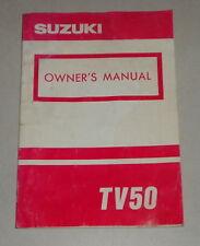 Betriebsanleitung Suzuki Motorrad TV 50 Stand 03/1993