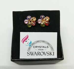 Orecchini-Cerchio-Donna-Bambina-Ragazza-oro-18-kt-placcato-e-Swarovski