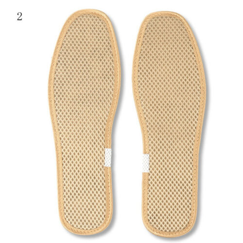 Hand-Woven Bamboo Charcoal Linen Insoles Breathable Anti-Bacterial Insole Supply