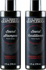 Polished Gentleman Organic Beard Growth Thickening Shampoo Conditioner Set 4oz