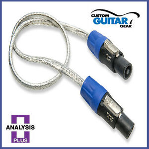 Analysis-Plus-Pro-Silver-Oval-Speaker-cable-8FT-Length-SPEAKON-PLUGS