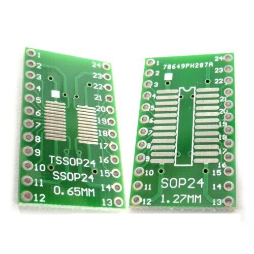 Convertidor de PCB Placa Adaptador QFP TQFP LQFP Fqfp Sop tan SOIC TSSOP MSOP Sumergir