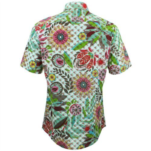Rᄄᆭtro Loud Mesure Originals Sur Mens Blanc Floral Psychᄄᆭdᄄᆭlique Fantaisie Coupe Shirt q4R5jL3A