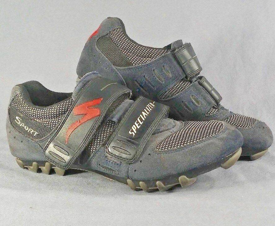 Specialized Cycling Suede Sport shoes Mens bluee Sz 39 US 7 with Shimano cleats