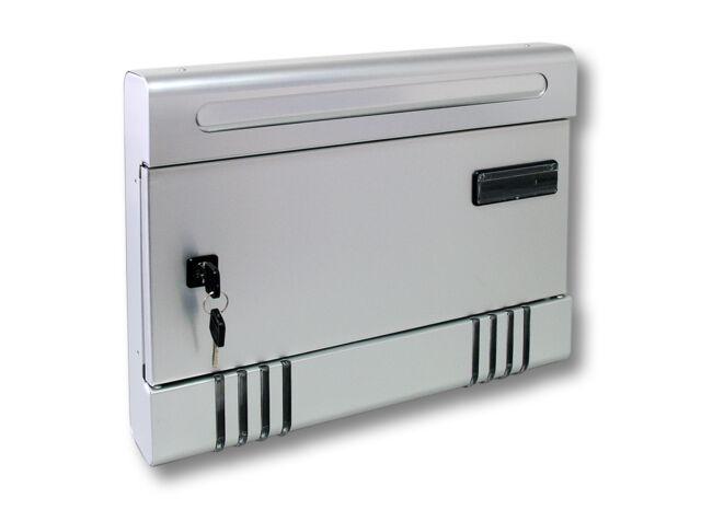 Modern Design Aluminium Letter Box Mail Post Box SILVER