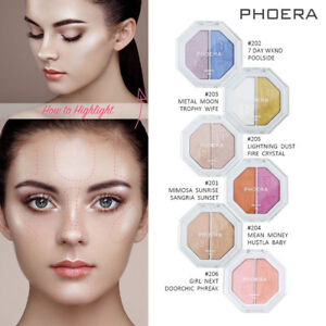 PHOERA-Women-Two-tone-Highlighter-Make-Up-Shimmer-Cream-Face-Highlight-Eyeshadow