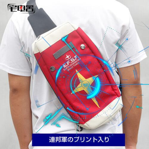 GUNDAM Red Backpack Shoulder Bag Single Bag Travel Outdoor Bag Messenger Bag