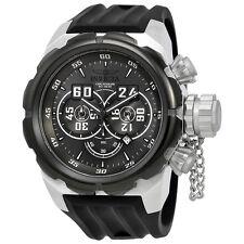 Invicta Russian Diver Chronograph Grey Dial Black Silicone Mens Watch 21629