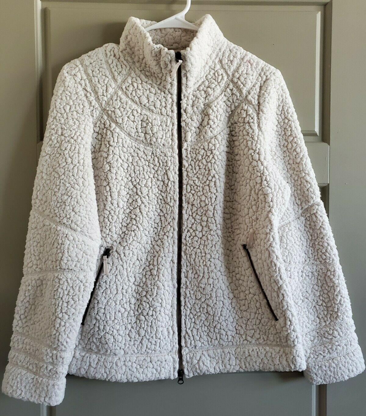 Royal Robbins Women's Deep Pile Snow Wonder Fleece Jacket Ivory Size Large Soft!