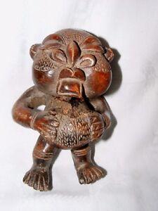 Tikar-Argile-Maison-Dieu-Figurine-Congo-Africain-Ancien-Statue-Vessel