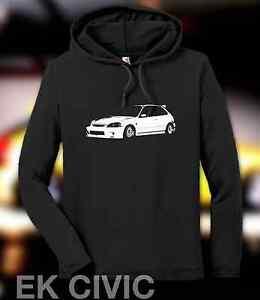 New Honda Ek Civic Hatchback Hoodie Ebay