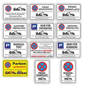 Parkplatz Schilder Parkverbot Hinweis Schild Parkverbotsschild Parken verboten