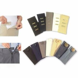 bac4ec0e5ffbf Image is loading 2PCS-Waist-Band-Jeans-Pant-Extender-Belt-Button-