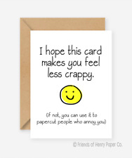 Funny Cheeky Rude Sarcastic Get Well Soon Card After Accident Injury