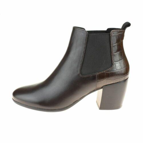 Geox Neue Lucinda Damen Kaffee Braun Boot Size EU Damen Slipper Leder