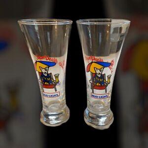 2-Vintage-1987-Bud-Light-Spuds-Mackenzie-Glasses