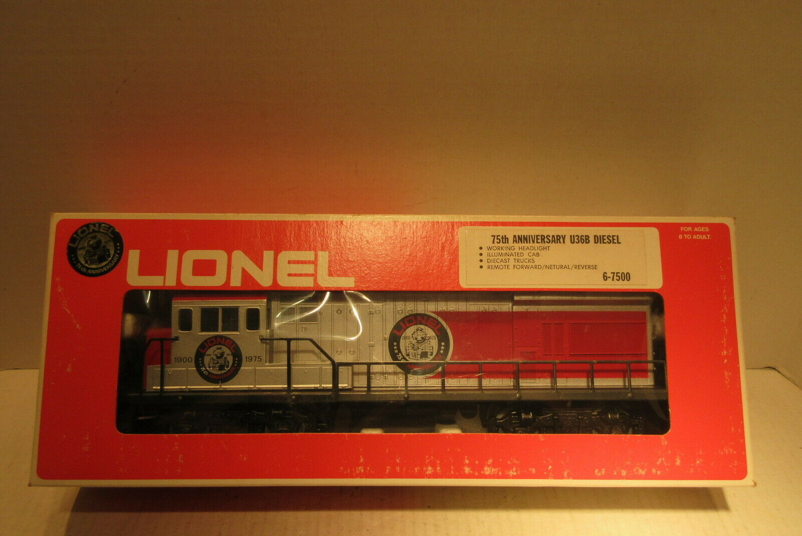 Lionel Train 6-7500 75th Anniversary U36B Diesel Engine O-Gauge