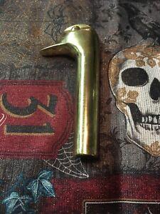 Vintage-Brass-Duck-head-fireplace-handle-head-walking-stick-cane-goose