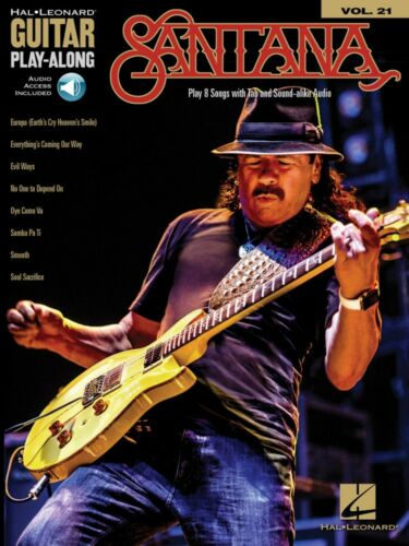 Santana Sheet Music Guitar Play-Along Book and Audio NEW 000174525
