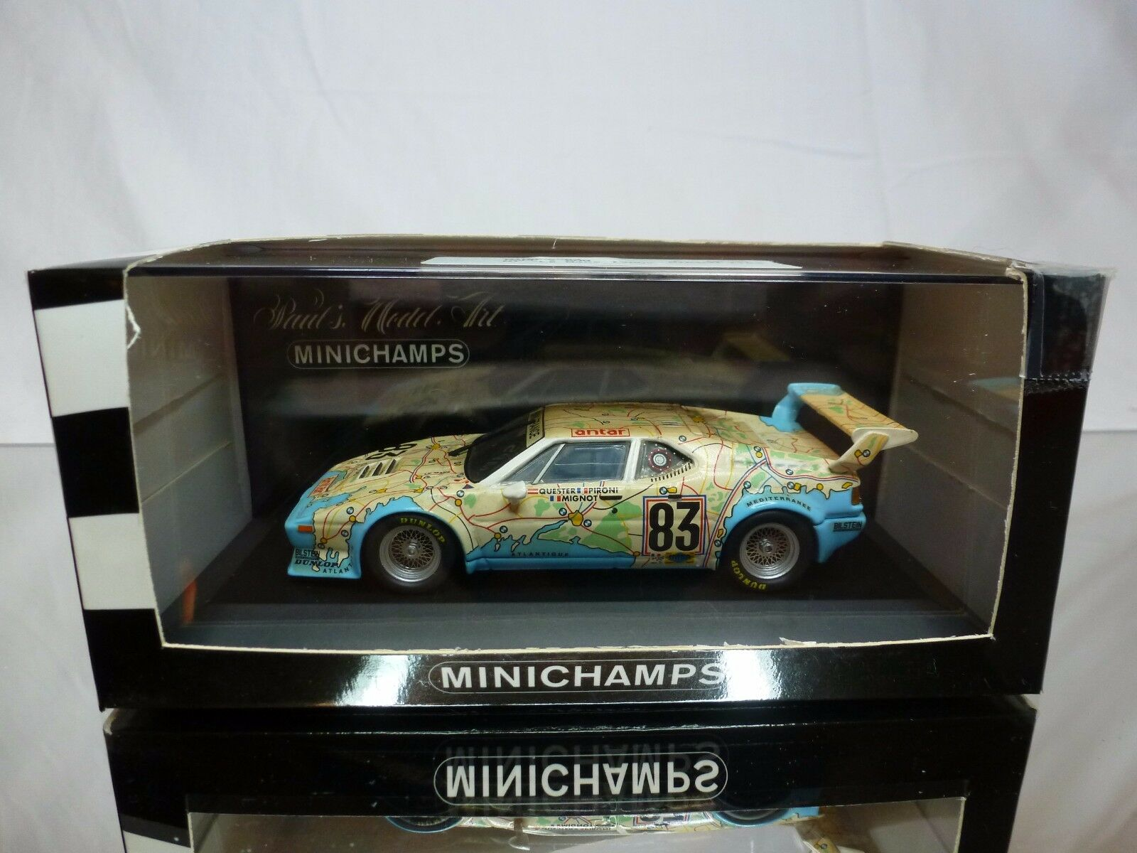 MINICHAMPS BMW M1 LE MANS 1980 PIRONI QUESTER QUESTER QUESTER MIGNOT - ANTAR 1 43 - GOOD IN BOX 7b28bb